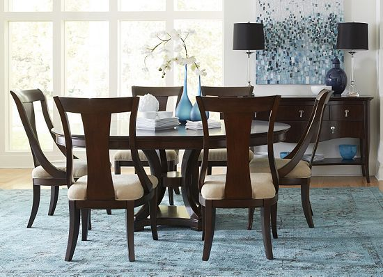 Dining Rooms, Astor Park Round Table, 6x Chairs Dining Rooms ...