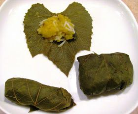 Creating Nirvana: Pumpkin and rice stuffed grape leaves and canning grape leaves