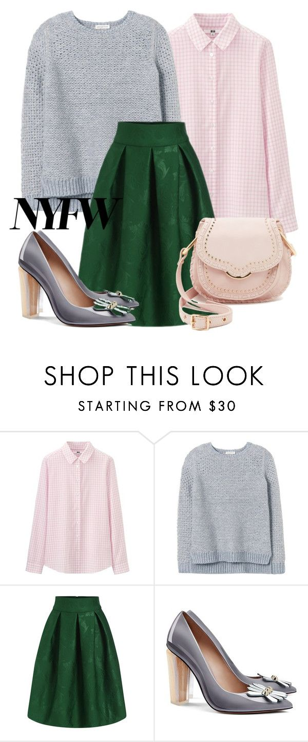 """Untitled #273"" by bellatrix87 ❤ liked on Polyvore featuring Uniqlo, Rebecca Taylor, Tory Burch, Cynthia Rowley, women's clothing, women, female, woman, misses and juniors"