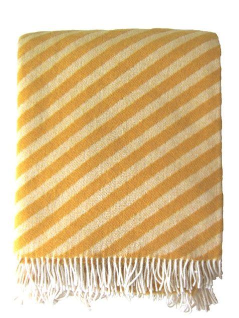 Stripes Wolldecke Gelb For The Home Wool Blanket Blanket Wool