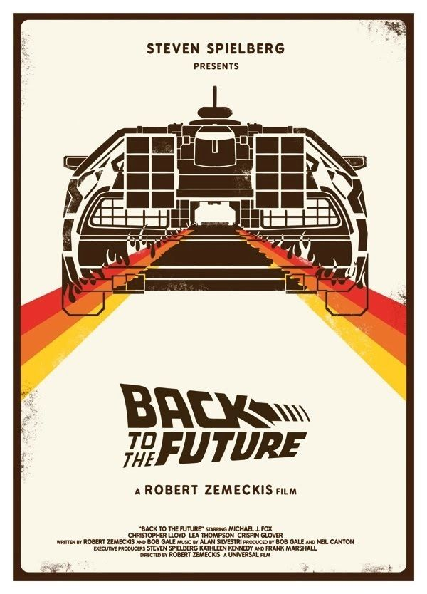A3 Back to the future retro 80/'s art print poster canvas painting vintage