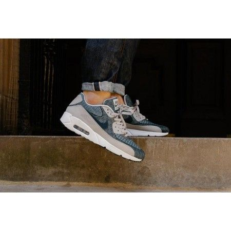 new product 4671c 79af6 Acheter Chaussures Sport Nike Air Max 90 Ultra 2.0 Jacquard BR Marine Gris  loup Blanc France