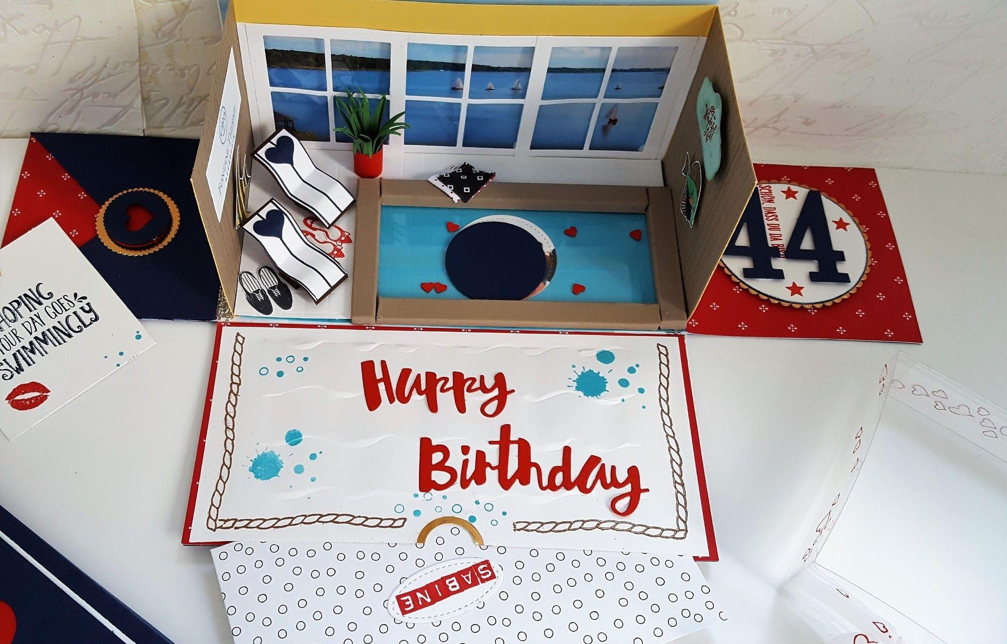 eine explosionsbox f r einen gutschein f r eine therme explosionsbox pinterest therme. Black Bedroom Furniture Sets. Home Design Ideas