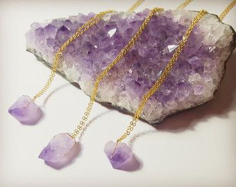 Crystal necklace raw amethyst necklace amethyst necklace crystal amethyst necklace aloadofball Image collections