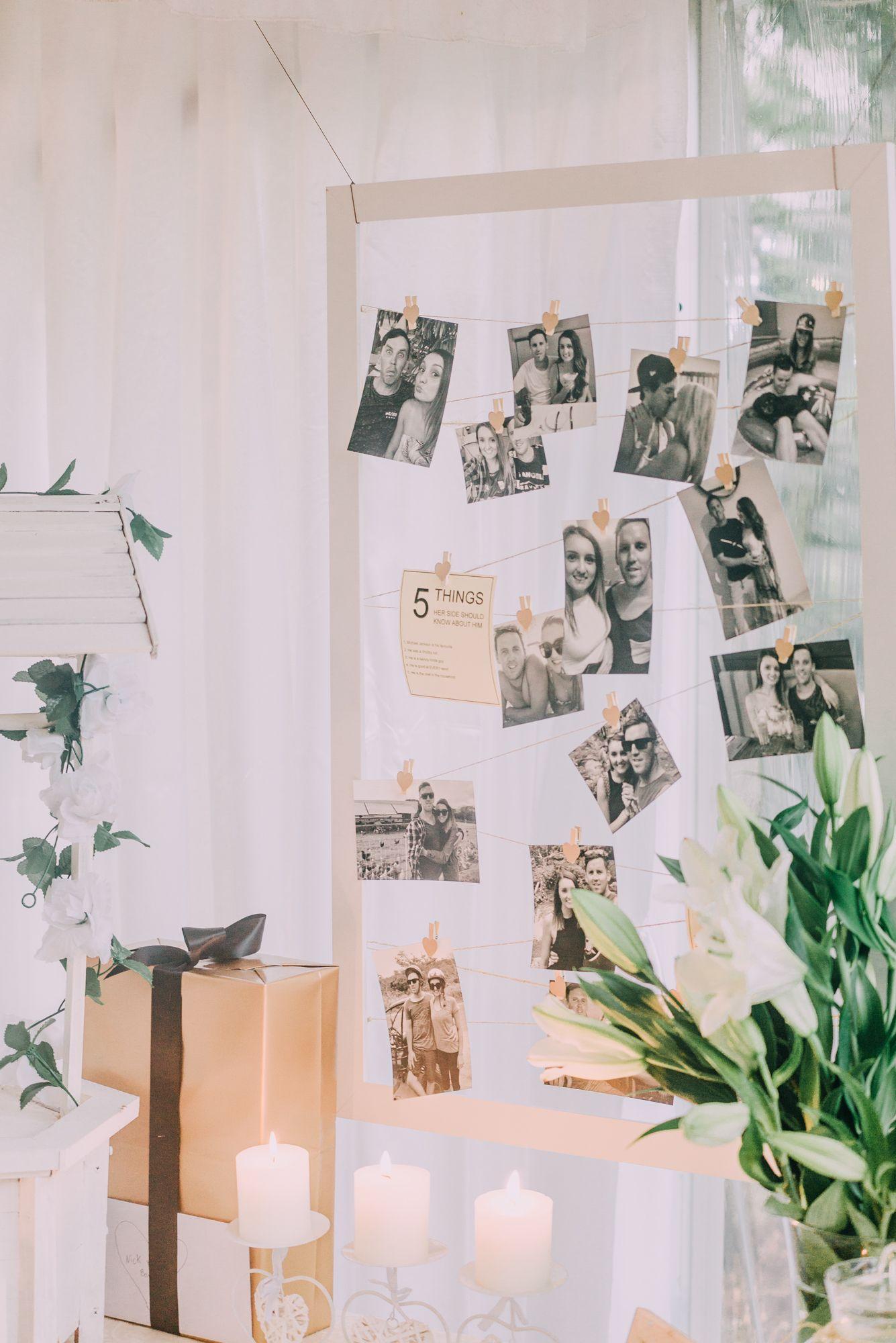 Reception Photo Collage Wedding Decor Idea Asp Wedding