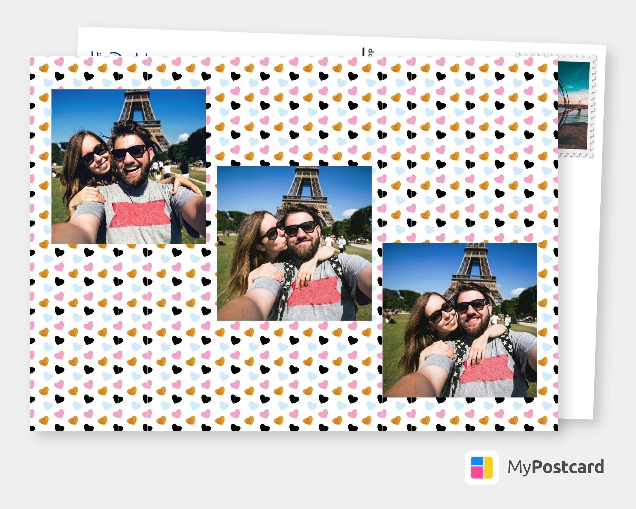 Free Printable I Love You Photo Cards Online Customized Photo Cards Printed Mailed For You International Online Or With Our Free Postcard App Postcard Online Greeting