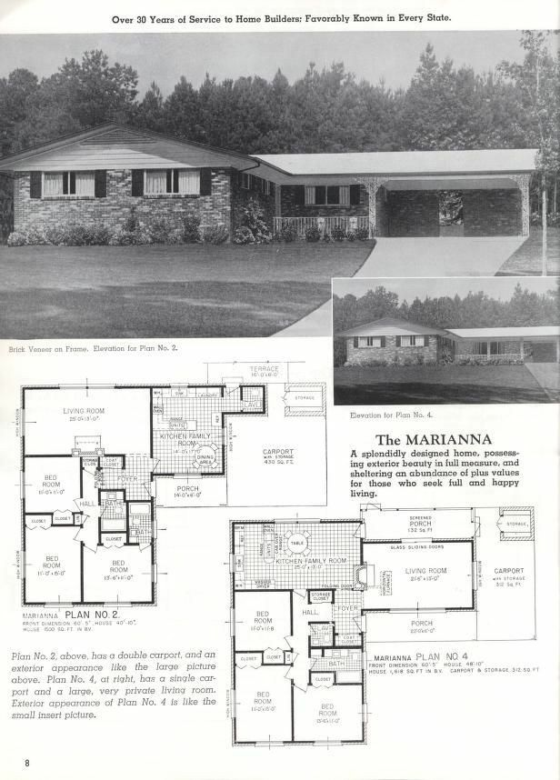 Pin By Ana Garcia Rendueles On Mid Century Modern Vintage House Plans House Plans With Pictures House Floor Plans