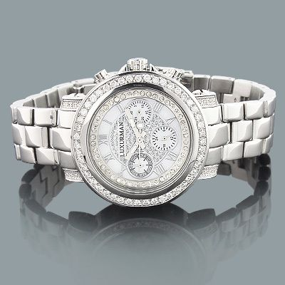 This top of the line Luxurman Diamond Watch is from our Mens