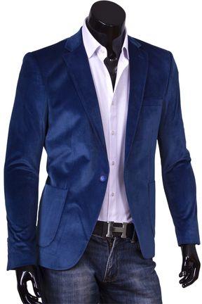 Купить Синий мужской пиджак под джинсы фото недорого в Москве ... a08dcfbdd05