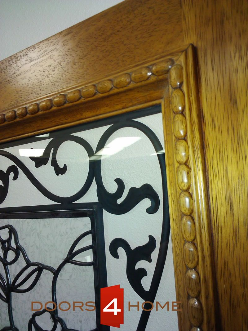 AAW Doors Inc. Single Door One Sidelite Mahogany Traditional with Ironwork and Floral Design at & AAW Doors Inc. IR-744-1-1 Single Door One Sidelite Mahogany ... Pezcame.Com