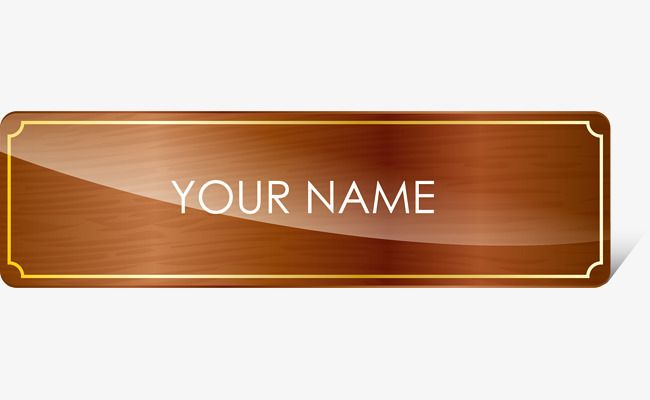 Seat Nameplate Png And Vector Name Plate Clip Art Transparent