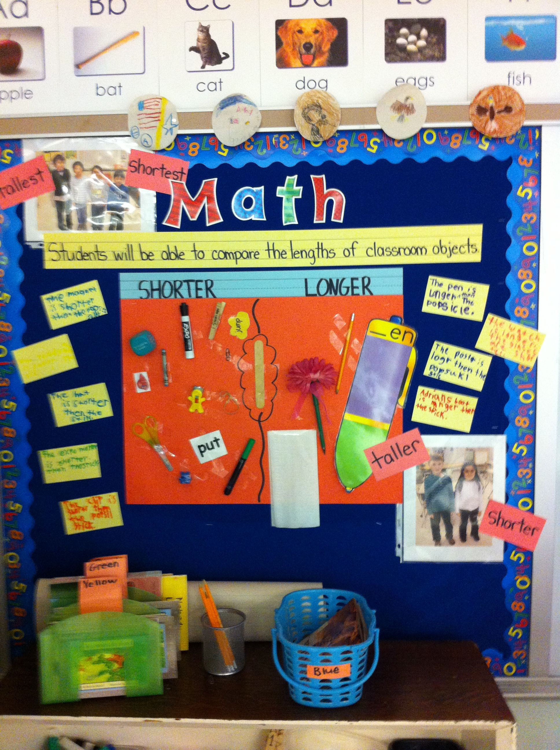 Measurement Bulletin Board Compare Lenghts Of Classroom