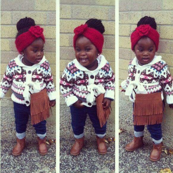 Beautiful black kids babies little girl fashion  #kids fashion  Kids fashion / swag / swagger / little fashionista / cute / love it!! Baby u got swag!