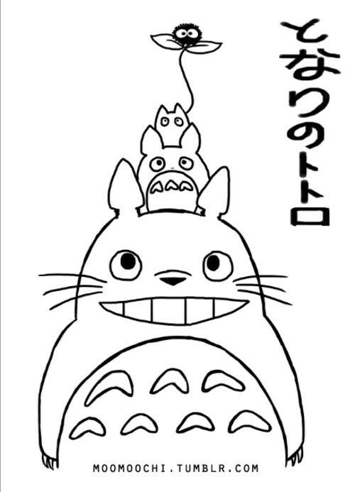 free coloring pages totoro popular japanese | Pin by Mara Rara on Embroidery | Pinterest