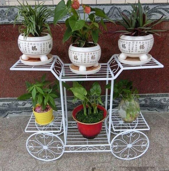 Imagenes de soportes metalicos para macetas jardin - Soportes para colgar macetas ...