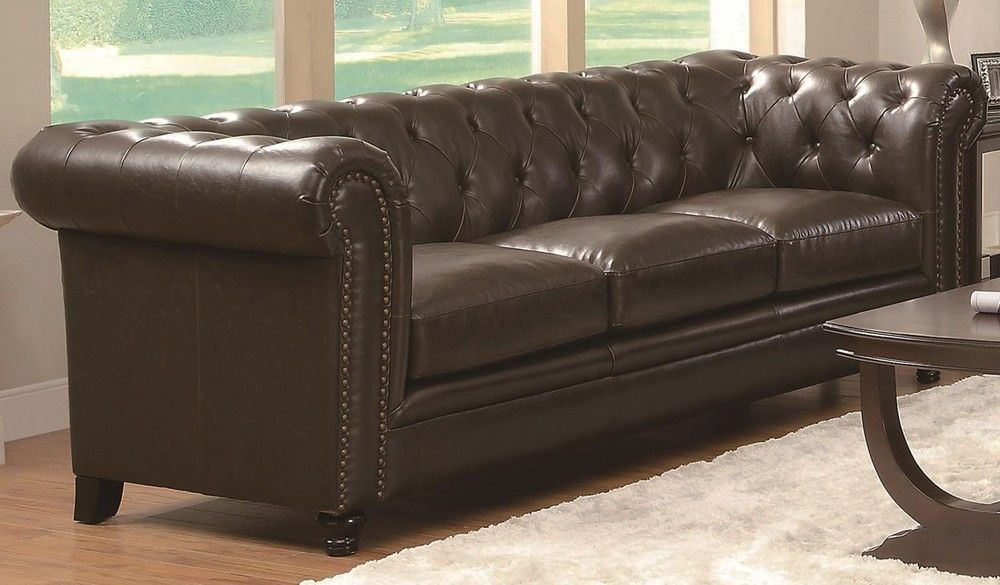 Why Tufted Sofa Because The Buttons Keep The Fabric Or Leather
