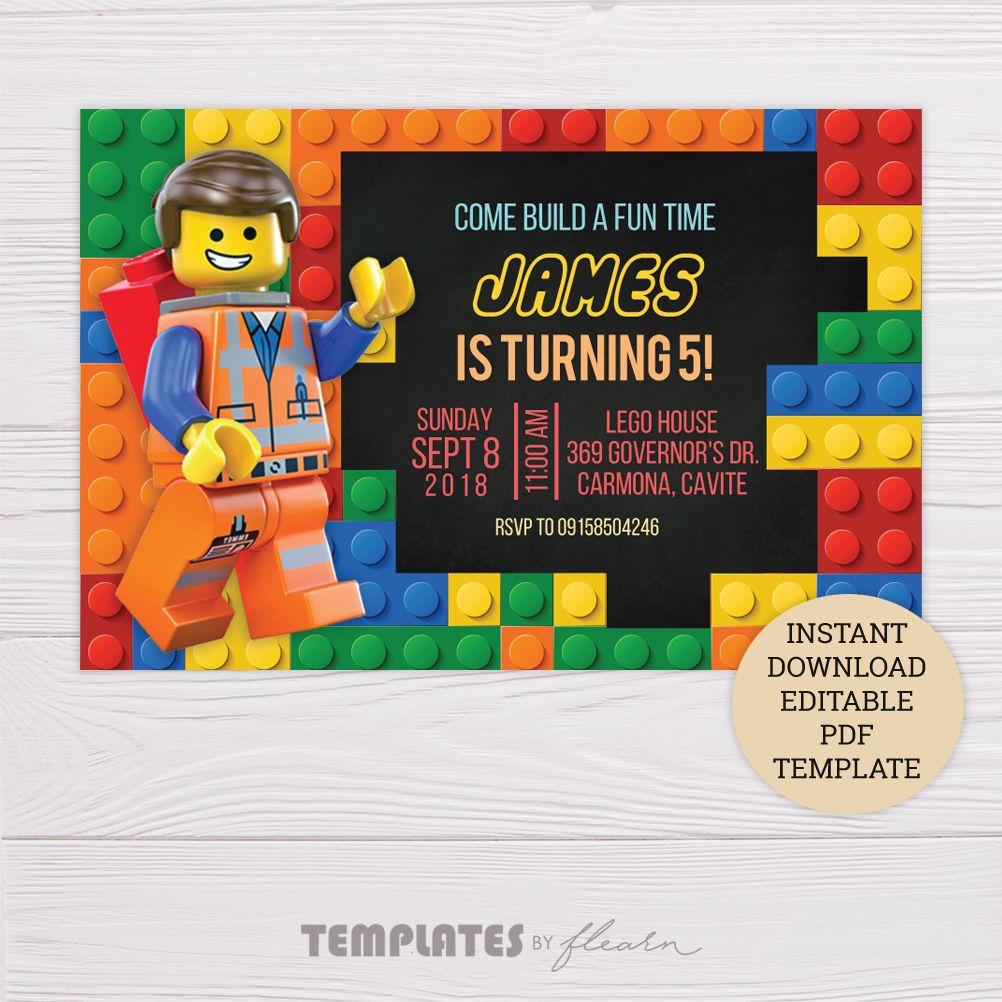 lego invitation pdf template dgtally