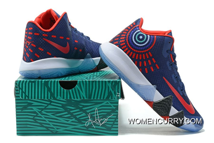 Find Nike Kyrie 4 Mens Basketball Shoes Blue Red New Style online or in  Yeezyboost. Shop Top Brands and the latest styles Nike Kyrie 4 Mens  Basketball Shoes ...