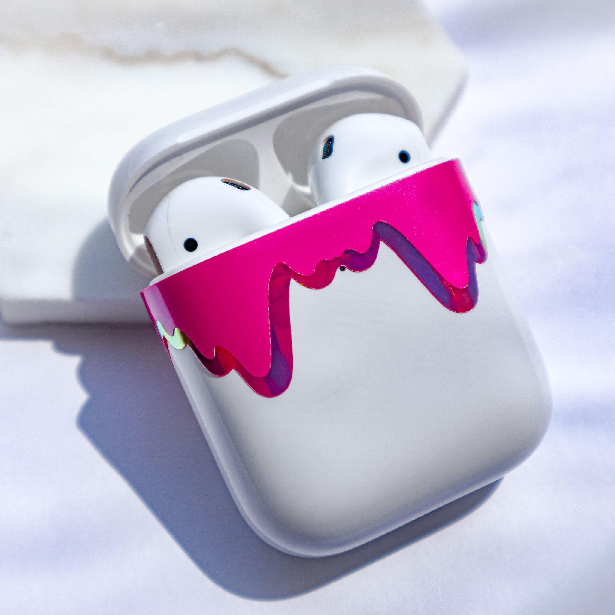 Airpod Case Decal Airpod Pro Drippy Holographic Apple Etsy Airpod Case Case Holographic