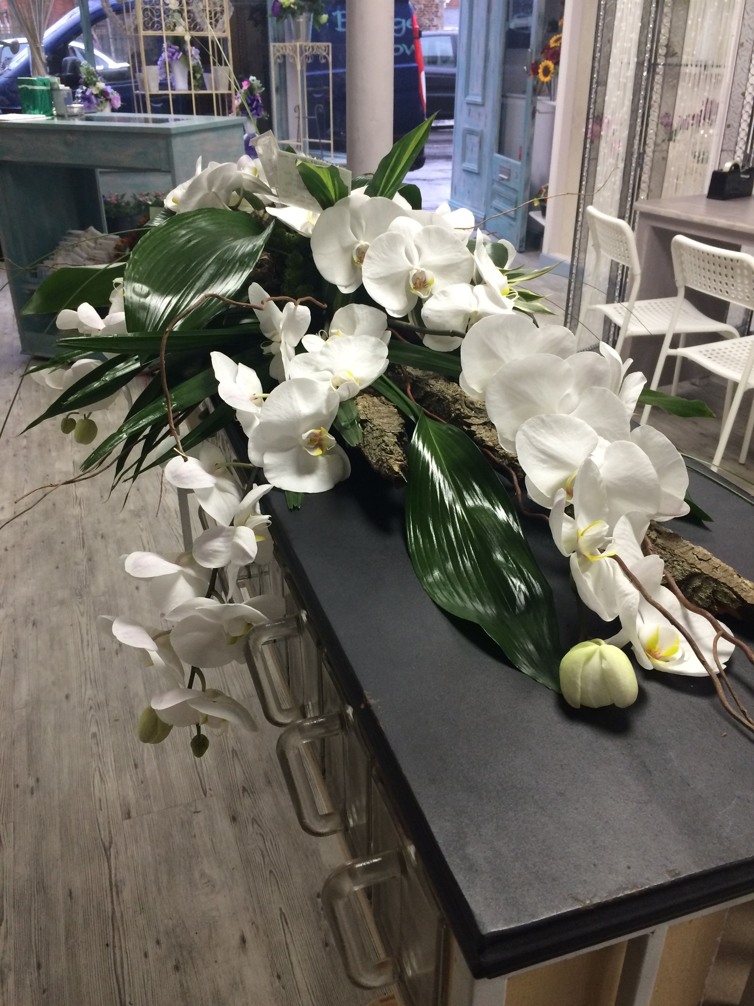 A personal favourite our all orchid casket spray floral sympathy funeral flowers a personal favourite our all orchid casket spray orchid bouquet flower bouquets casket izmirmasajfo