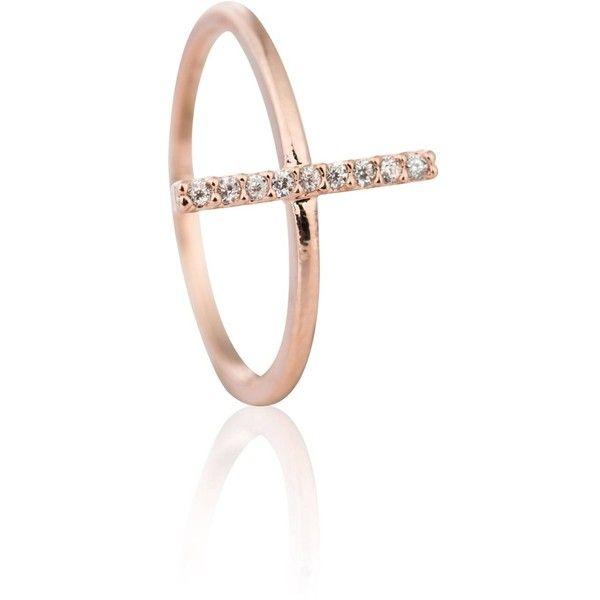 Astrid Miyu Chase Me Midi Ring in Rose Gold 610 EGP liked