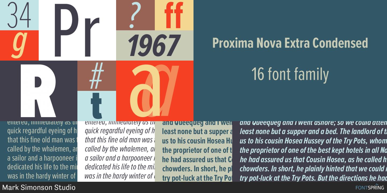 Proxima Nova Fonts Fontspring Condensed Font Modern Fonts Font Family