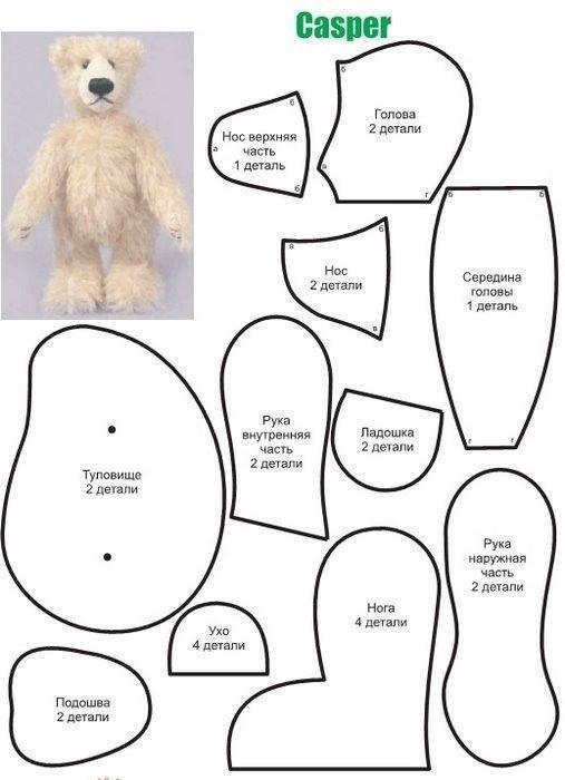 Patrones de osos de peluche | peluches | Pinterest | Osos, Patrones ...