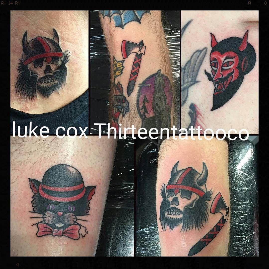 Friday 13th  Luke cox @thirteentattooco @cherryreds89