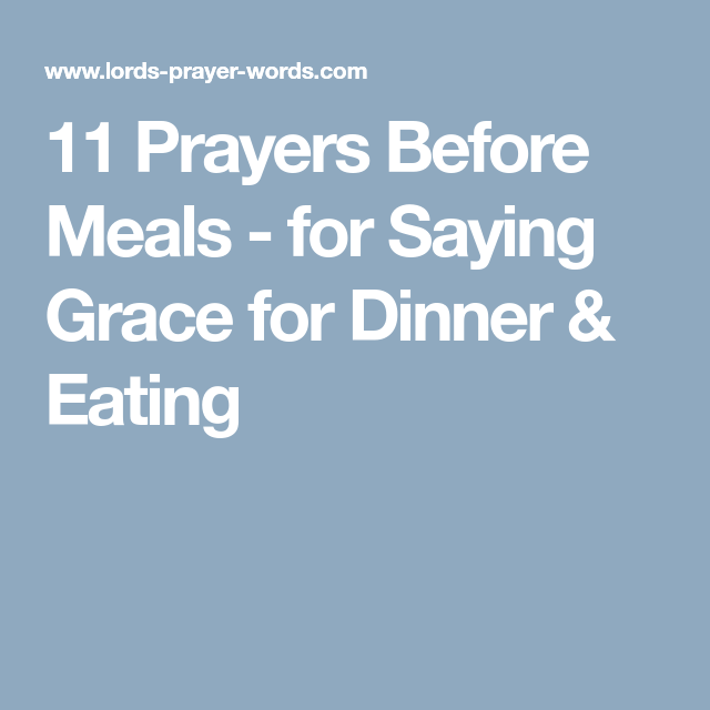 11 prayers before meals