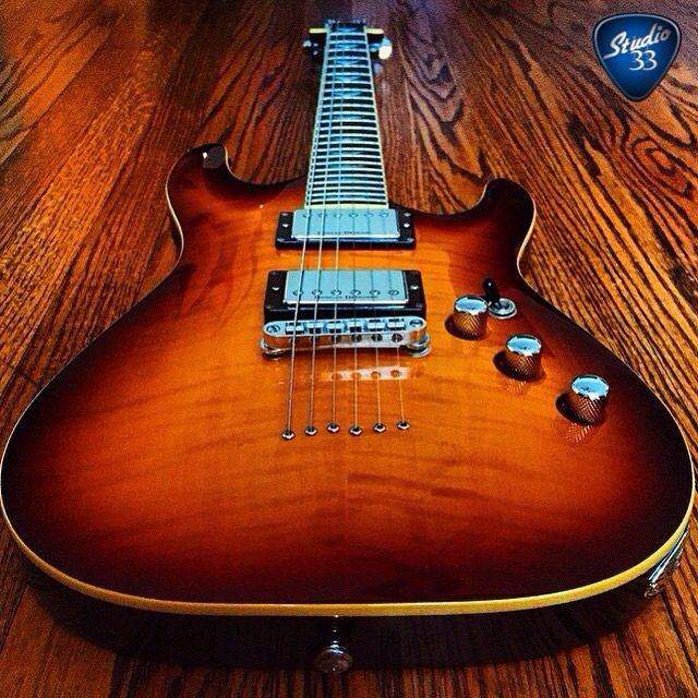 Cool Schecter C-1 belonging to @chief_whitetail #schecter Learn to play guitar online at www.Studio33Guitarlessons.com