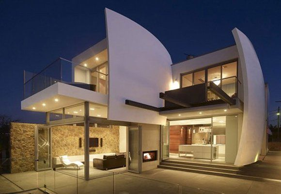 Luxurious Home Design With Futuristic Architecture In Australia Modern House Design Archit Contemporary House Design Modern House Design Modern Architecture