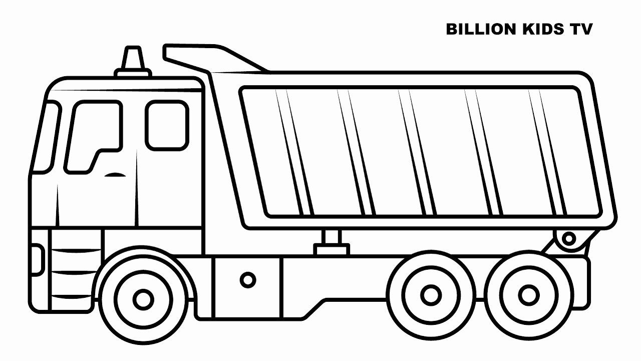 Dump Truck Coloring Page Beautiful Big Dump Truck Coloring ...