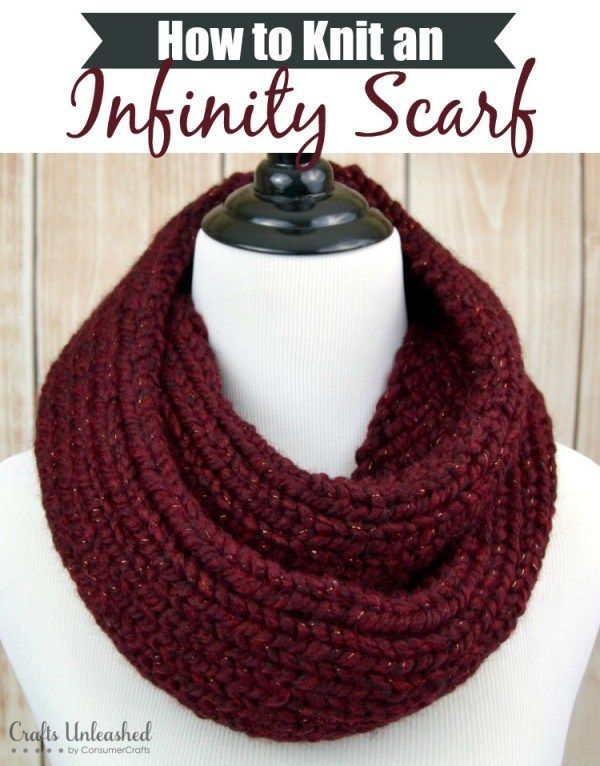 How to Loom Knit an Infinity Scarf #loomknitting