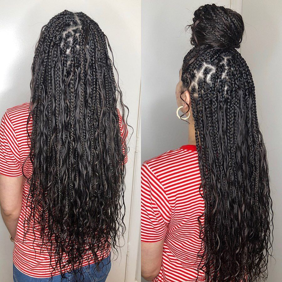 Knotless Babe Braids Done With 100 Human Hair I Looooove How Natural And Flowing These Braids Are Braids For Black Hair Box Braids Hairstyles Hair Styles