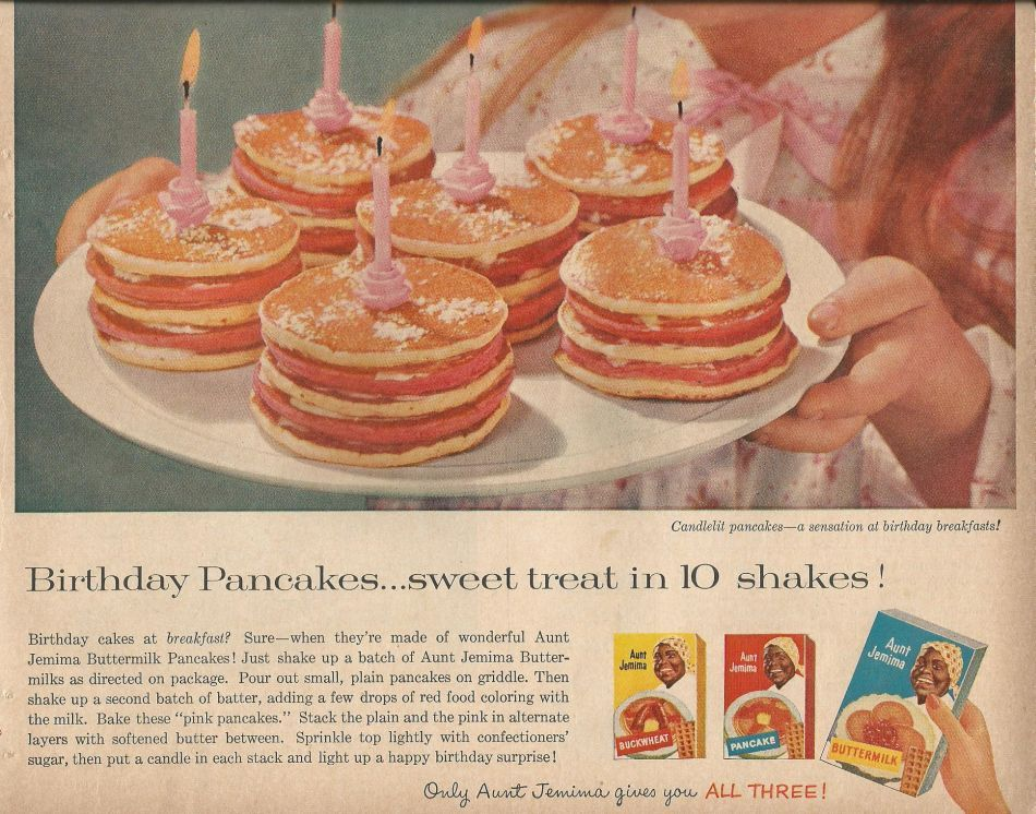 Birthday pancakes an aunt jemima pancake mix recipe vintage birthday pancakes an aunt jemima pancake mix recipe ccuart Images