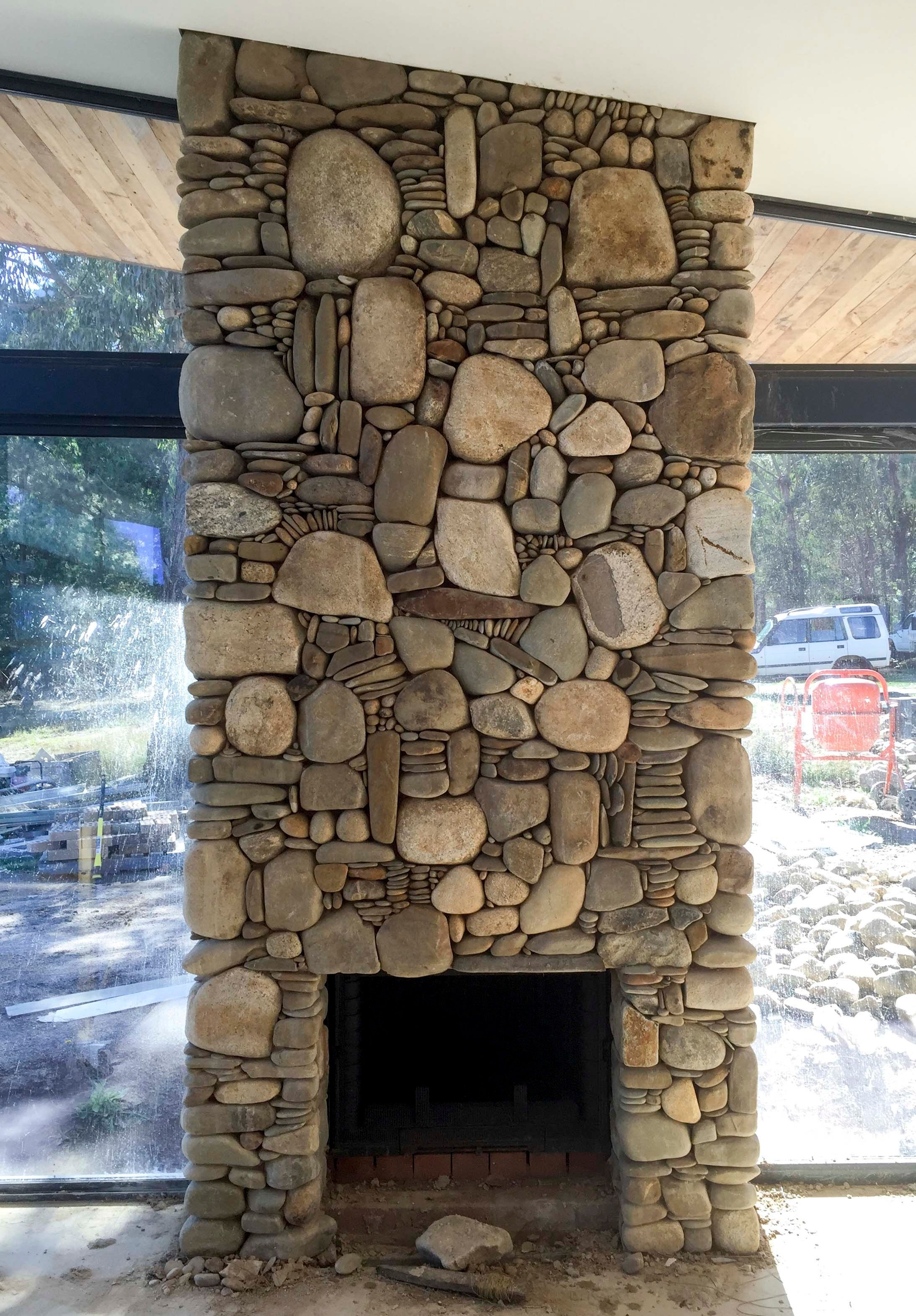 Pin By Albert On Cabin Stone Fireplace Surround River Rock