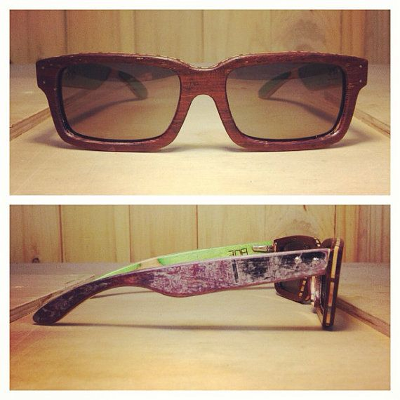1002b0aa0be Sk8 Sunglasses  made from old skateboards.