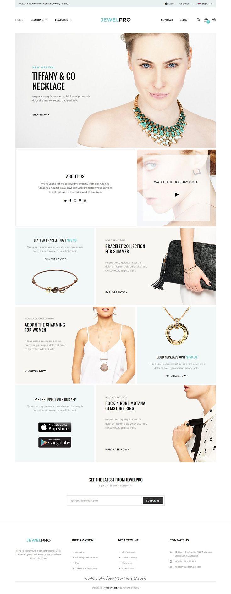 Epro premium opencart template pinterest ecommerce websites
