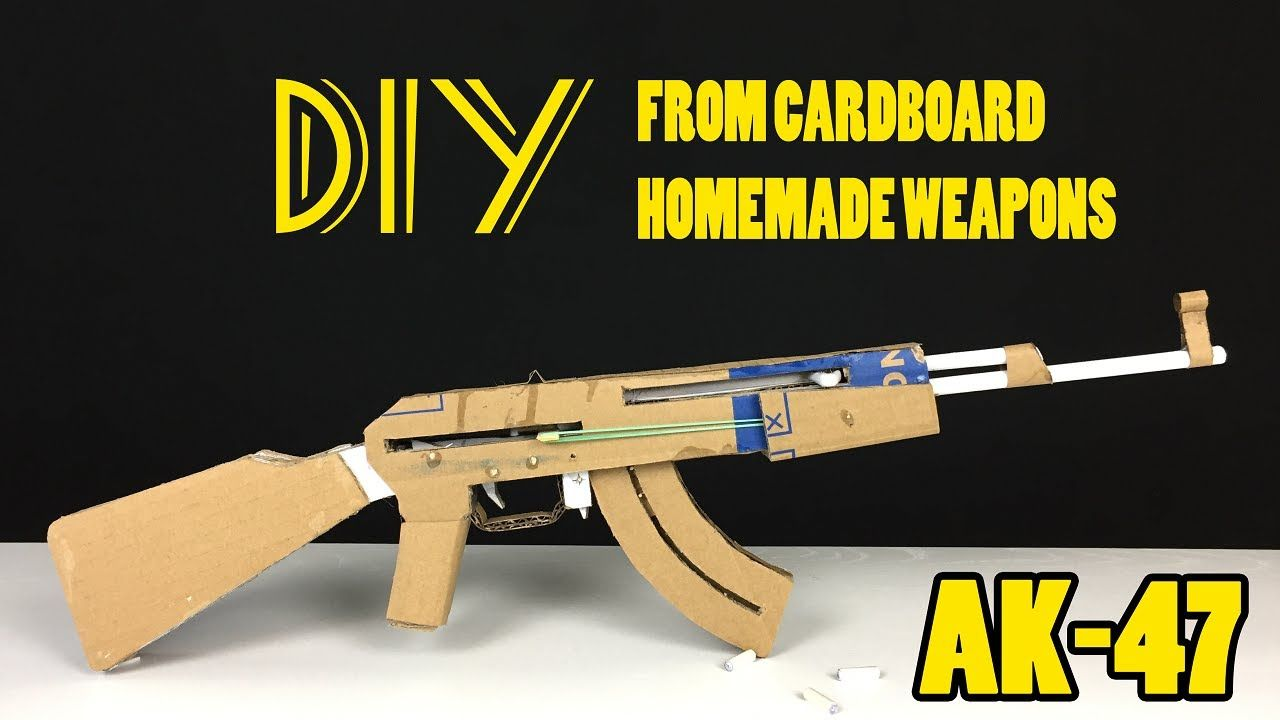 How To Make An Ak 47 Diy From Cardboard Homemade