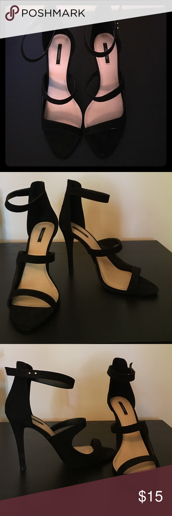 Forever 21 Heels Minor wear and tear, only worn a couple times. Great for going out! Forever 21 Shoes Heels