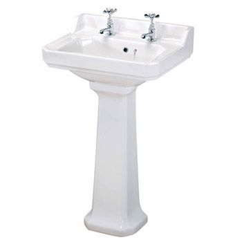 Nuie Carlton Traditional Basin Pedestal 2 Tap Hole Various