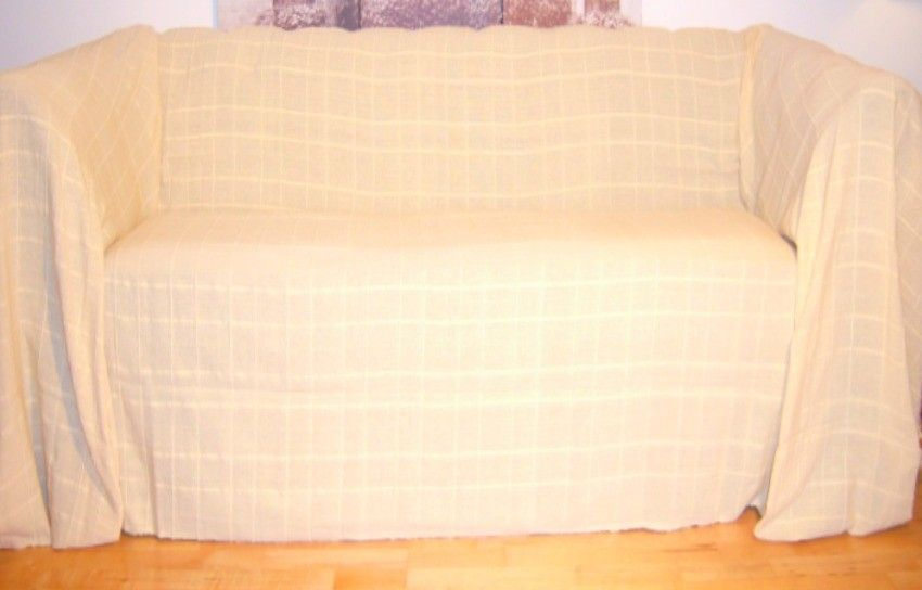 ButtermilkPale Yellow Extra Large 3 or 4 Seater Sofa Throw