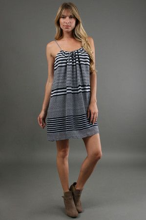 The Palm Beach Dress in Navy Stripes by Aaron Ashe at CoutureCandy.com