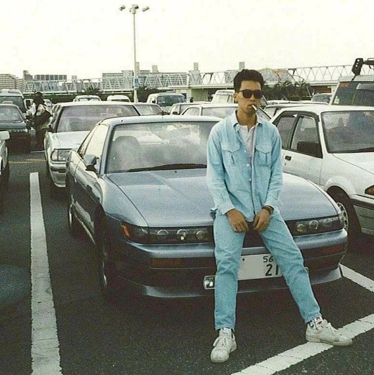 Inspo This Japanese Guy From The 90s Looking Fresh Streetwear In 2020 Japanese Sports Cars Street Racing Cars Japan Cars