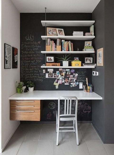 ComfyDwelling on | Chalkboards on small office reception ideas, small studio kitchenette table, small office desk ideas, small office bathroom ideas, small office sitting room ideas, small office fireplace ideas, small office storage ideas, small apartment kitchenettes, small office bedroom combination, small office sitting area ideas, small office closet ideas, small office decorating ideas,