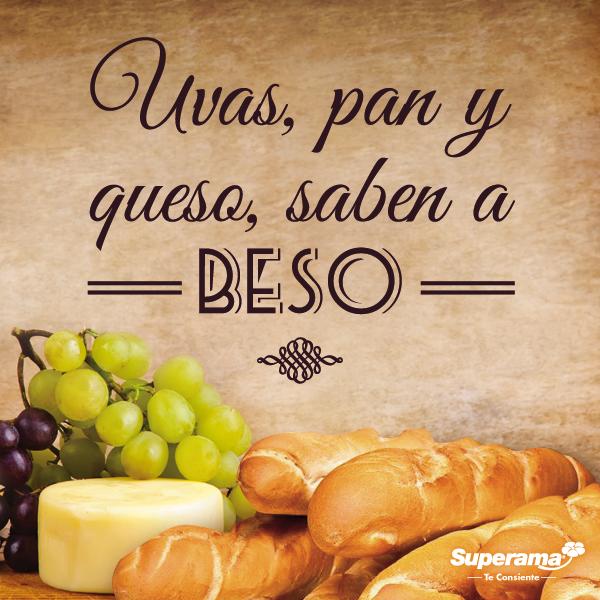 Uvas, pan y queso, saben a beso #FrasesGourmet   vinos y quesos ...