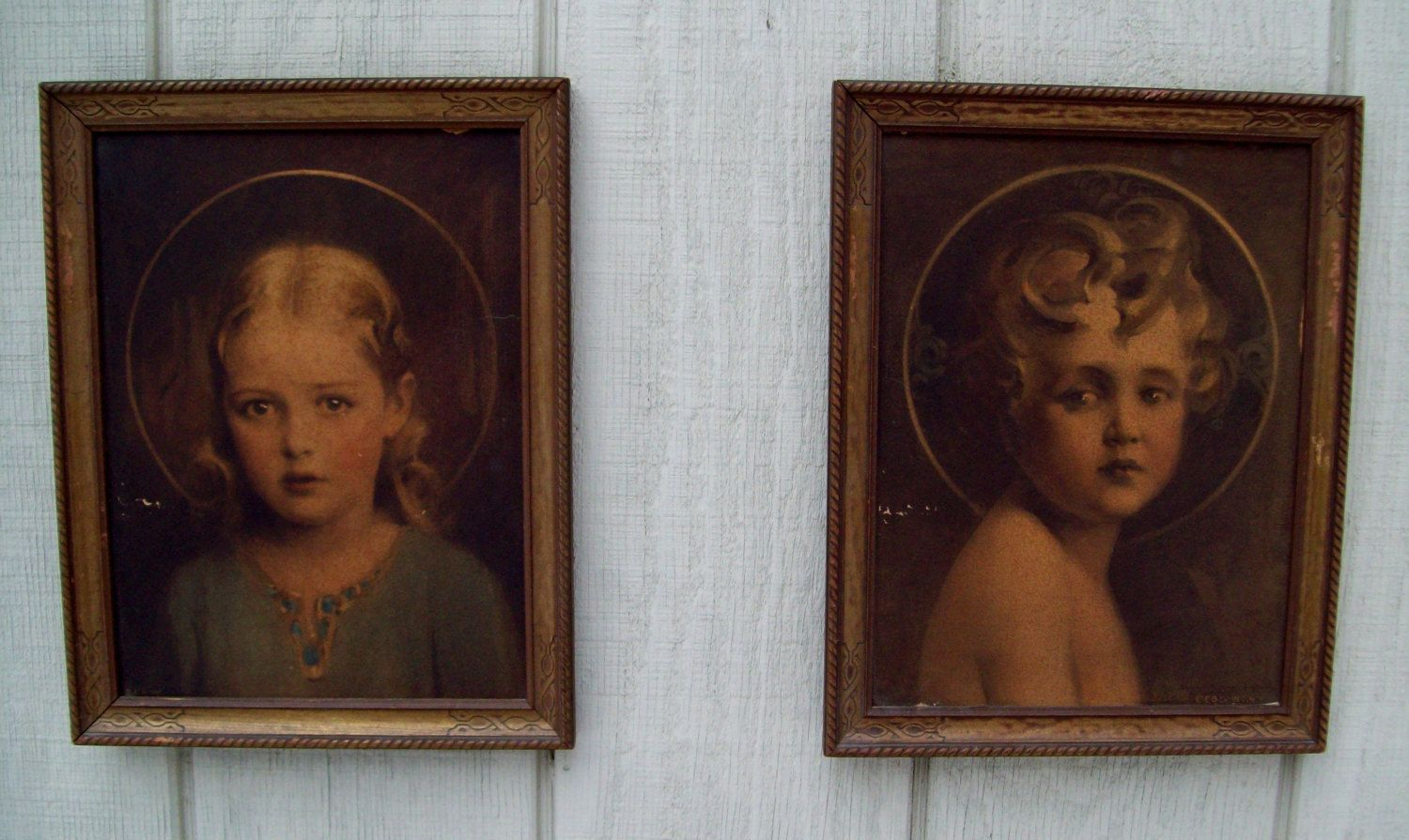 Vintage Child Prints Light Of The World /Mary Most Holy Charles Bosseron Chambers 1920's E.G. Inc. $17.00, via Etsy.