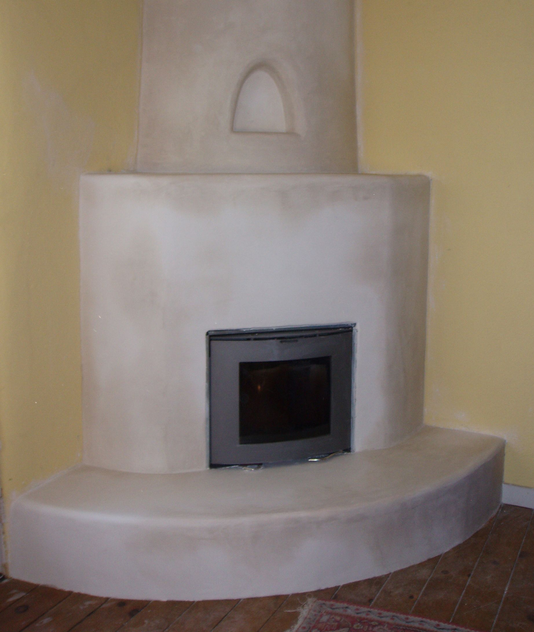 Awesome A High Efficiency Scan Dsa 4 Insert In A Kiva Fireplace Interior Design Ideas Oteneahmetsinanyavuzinfo