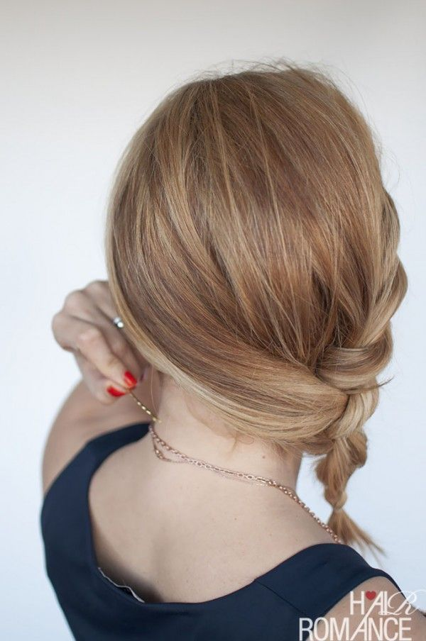 Hair Romance - Easy Twisted Ponytail Hairstyle Tutorial | short ...
