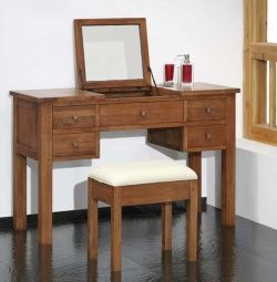 Havana Oak Dressing Table With Lift Up Mirror Ideas For